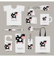 Corporate business style design funny cow vector image vector image