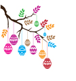 Easter eggs branch vector image vector image