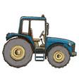 farming tractor vector image vector image