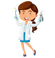 Female dentist with equipment vector image vector image