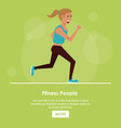 fitness people poster vector image vector image