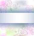 Floral Orchid Background vector image vector image