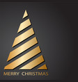 gold christmas tree with ribbons for your merry vector image vector image