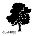 gum tree icon simple style vector image
