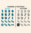 Handdrawn numbers and fractions