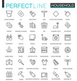 household appliances thin line web icons set vector image vector image