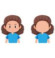 isolated female facial character vector image