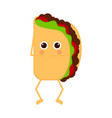 isolated taco emote with hands on mouth vector image