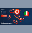 isometric map italy with highlighted country vector image vector image