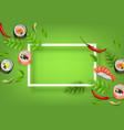 japanese sushi banner with rolls ebi nigiri vector image vector image