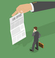 job offer flat isometric concept vector image vector image