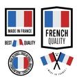 Made in France label set national flag vector image vector image
