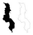 map malawi isolated black on vector image vector image