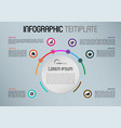 modern infographics with colorful circle vector image vector image
