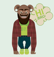 monkey hipster vector image vector image