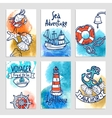 Nautical Cards Set vector image vector image