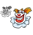 Old circus clown vector image vector image