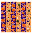 pattern halloween third vector image