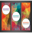 polygonal banners with abstract multicolored vector image vector image
