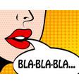 pop art retro style comic book panel with girl vector image