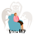psychological problems mental disorders vector image vector image