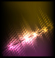 purple-yellow diagonal wave abstract equalizer vector image vector image