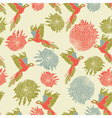 Retro Parrot Pattern vector image vector image