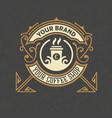 retro vintage coffee shop logo and label with vector image vector image