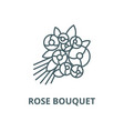 rose bouquet line icon linear concept vector image