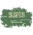 Saudi Arabia grunge flag vector image vector image