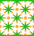 seamless geometric pattern flowers bright vector image vector image