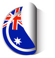 sticker template for australia flag vector image vector image