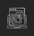 storytelling chalk white icon on black background vector image vector image