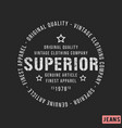 superior stamp print design vector image