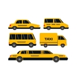 Taxi transport set vector image vector image