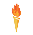 torch icon vector image