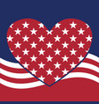 usa star pattern background with heart in vector image vector image