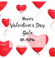 valentines day sale web banner of valentine red vector image vector image