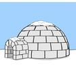 Cartoon igloo vector image