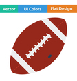 Flat design icon of American football ball vector image