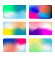 abstract colorful background collection vector image vector image