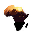 abstract landscape with sights africa at vector image vector image