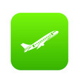 aircraft icon digital green vector image