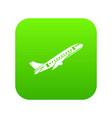 aircraft icon digital green vector image vector image