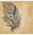 Artistically drawn stylized tribal graphic vector image vector image