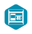 atm icon simple style vector image vector image