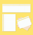 back to school paper with lines vector image vector image