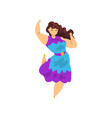 beautiful brunette curvy overweight girl wearing vector image vector image