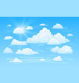 blue clean air sky with clouds panorama cloud vector image
