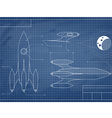 blueprint of the spaceship vector image vector image